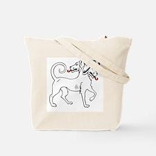 Three-Headed Dog Tote Bag