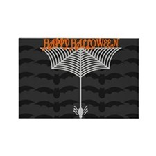 Happy Halloween Spiderweb black Rectangle Magnet