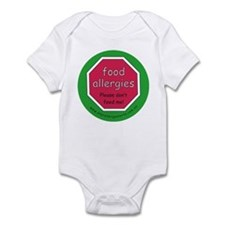 food allergies don't feed Infant Bodysuit
