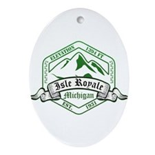 Isle Royale National Park, Michigan Ornament (Oval