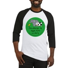 Eggs, nuts and dairy Baseball Jersey