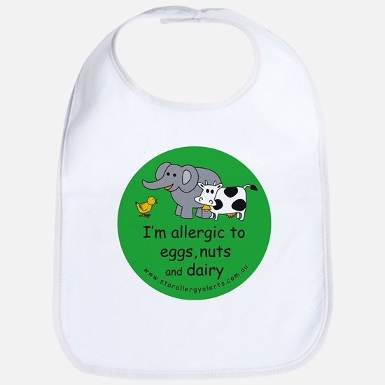 Eggs, nuts and dairy Bib