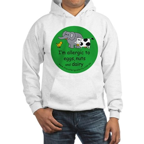 Eggs, nuts and dairy Hooded Sweatshirt