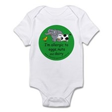 Eggs, nuts and dairy Infant Bodysuit