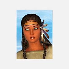 Indian Girl 5'x7'Area Rug