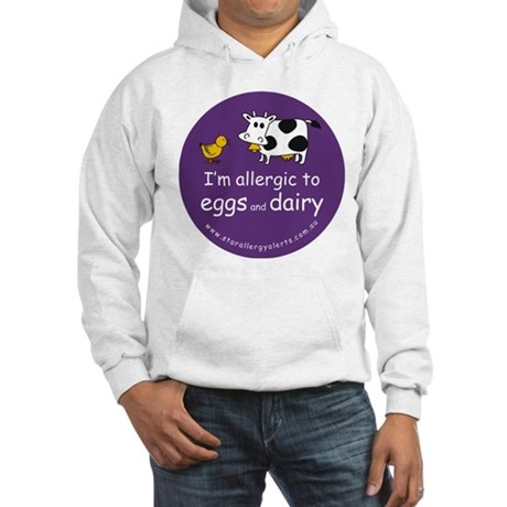 eggs and dairy Hooded Sweatshirt