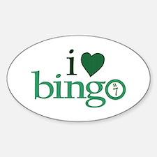 I Love Bingo Oval Decal