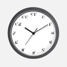 Braille Wall Clock