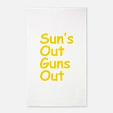 Suns Out Guns Out 3'x5' Area Rug