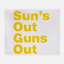 Suns Out Guns Out Throw Blanket