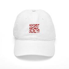Against Animal Cruelty Baseball Baseball Cap