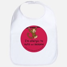 Nuts and sesame-allergy alert Bib