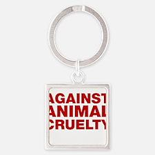 Against Animal Cruelty Keychains