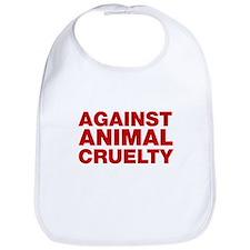 Against Animal Cruelty Bib