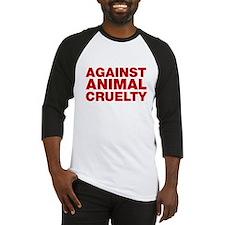 Against Animal Cruelty Baseball Jersey