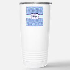 Teal & Pink Retro Flora Stainless Steel Travel Mug