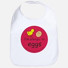 I'm allergic to eggs-red Bib