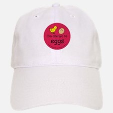 I'm allergic to eggs-red Baseball Baseball Cap