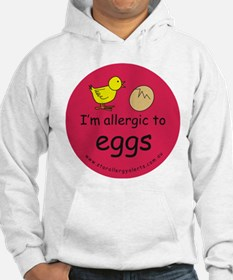 I'm allergic to eggs-red Hoodie