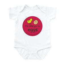 I'm allergic to eggs-red Infant Bodysuit