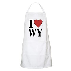 I Love Wyoming BBQ Apron
