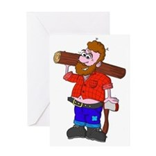 Lumberjack Ned Greeting Card