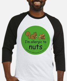 Nuts squirrel green Baseball Jersey