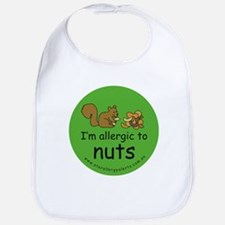 Nuts squirrel green Bib
