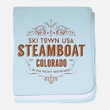 Steamboat Victorian baby blanket
