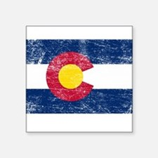 "Cute Colorado state flag Square Sticker 3"" x 3"""