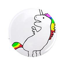 """Cute Dinocorn (T-Rex Unicorn) 3.5"""" Button"""