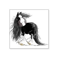 "Cute Shire horse Square Sticker 3"" x 3"""