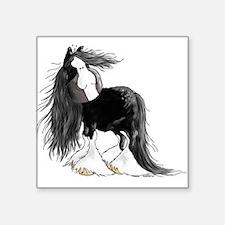"Cute Heavy horses Square Sticker 3"" x 3"""