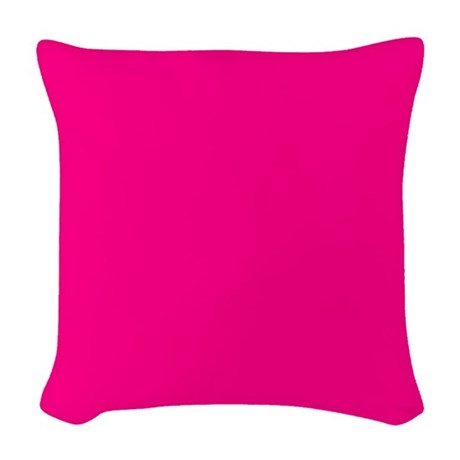 Hot Pink Solid Woven Throw Pillow by Pillow_Planet
