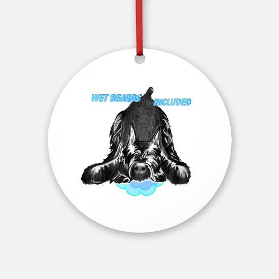 giant schnauzer wet beard include Ornament (Round)