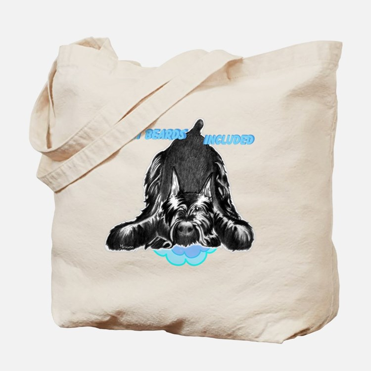 giant schnauzer wet beard included Tote Bag