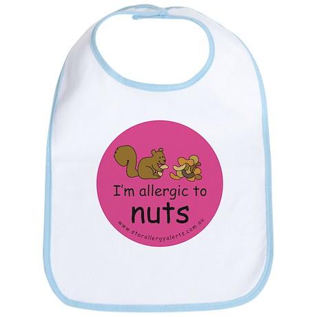 Nuts squirrel-pink Bib