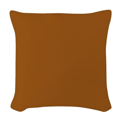 Light Brown Solid Woven Throw Pillow by Pillow_Planet
