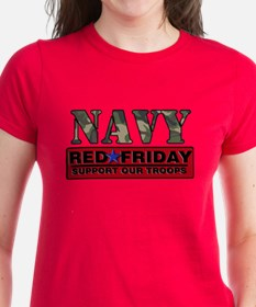 Red Friday Navy Logo Tee