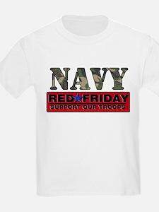 Red Friday Navy Logo T-Shirt