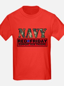 Red Friday Navy Logo T