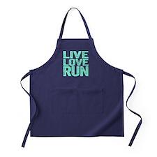 Live Love Run Apron (dark)