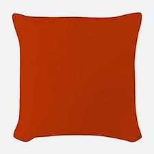 Solid Orange Woven Throw Pillow