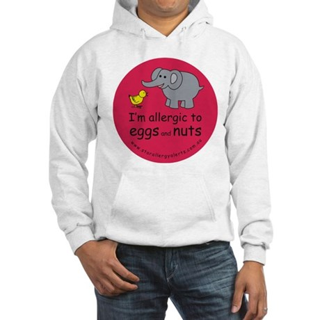 Eggs and nuts-red Hooded Sweatshirt