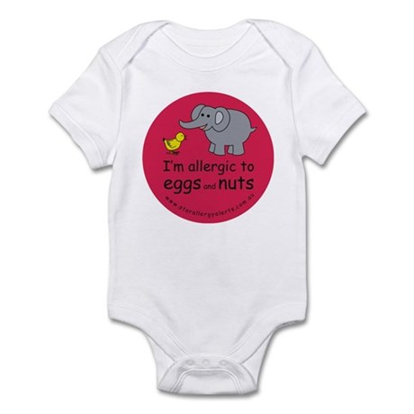 Eggs and nuts-red Infant Bodysuit