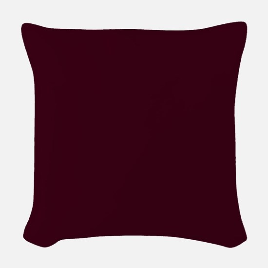 Solid Burgundy Red Woven Throw Pillow