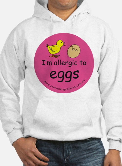I'm allergic to eggs-pink Hoodie