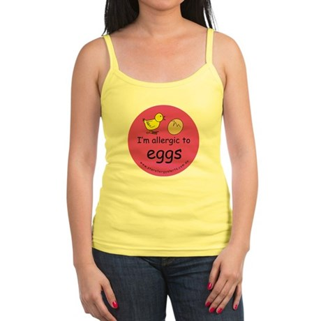 I'm allergic to eggs-pink Jr. Spaghetti Tank