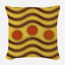 Modern Abstract Earth Tone Shapes Woven Throw Pill