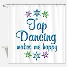 Tap Dancing Happy Shower Curtain